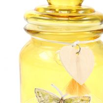 Pot en verre Bonboniere jaune Ø11cm H15,5cm