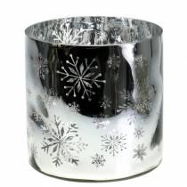 Décoration de Noel Photophore en verre Métal Ø20cm H20cm