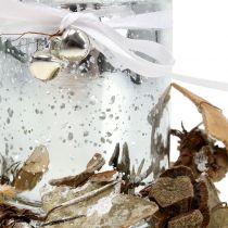 Photophore en verre avec couronne 10cm