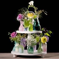 Vase en verre Farmer's Silver Pink H11cm 6pcs