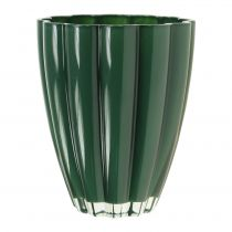 "Vase En Verre ""Bloom"" Vert Foncé Ø14cm H17cm"