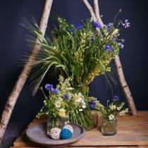 Vase en verre nervuré Ø7,5cm H9cm