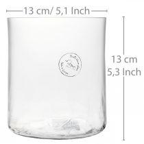 Vase cylindrique en verre Crackle clair, satiné Ø13cm H13,5cm