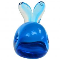 Baleine en verre bleue L. 12 cm