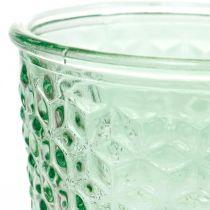 Lanterne en verre, coupe en verre avec base, récipient en verre Ø10cm H18,5cm