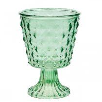 Lanterne en verre Ø11,5cmH15,5cm turquoise