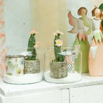 Lanterne en verre, vase décoratif, décoration bougie Ø18,5cm H21cm