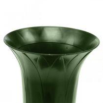 Vase funéraire 42cm vase vert foncé décoration funéraire fleurs funéraires 5pcs