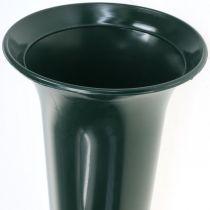 Vase tombe vert foncé 31cm 5pcs
