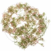 Guirlande de gypsophile Rose 180cm