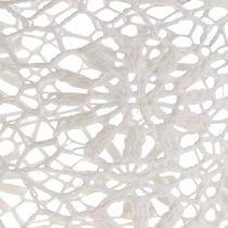 Cache-pot crocheté  blanc Ø 17 cm H. 15 cm