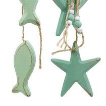 Suspensions décoratives étoile, poisson vert menthe 47  - 50 cm 2 p.