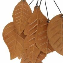 Cintre déco feuilles d'automne métal patiné H25cm 2pcs