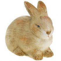 Lapin en céramique nature 8,5cm x 12cm 3pcs