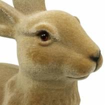 Décoration de Pâques lapin floqué marron H50cm