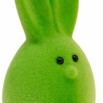 Mélange d'oeufs de Pâques avec oreilles, oeufs de lapin floqués, décoration de Pâques colorée 6pcs