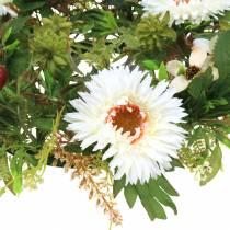 Couronne d'automne chrysanthème blanc Ø30cm
