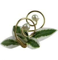 Broches de mariage avec perles, doré, 8 cm 24 p.