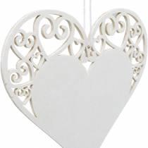 Décoration coeur à accrocher, décoration de mariage, pendentif coeur en bois, décoration coeur, Saint Valentin 12pcs