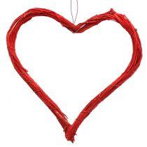 Cœur creux rouge 20 cm 6 p.
