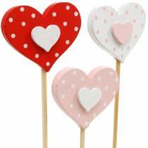 Bouchon décoratif coeur, décoration de mariage, décoration florale pour la Saint Valentin, décoration coeur 24pcs