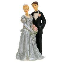 Mariés pour noces d'argent 14 cm