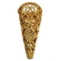 Broche de mariage magnétique dorée 4,5 cm