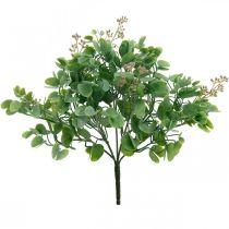 Décoration de mariage branches d'eucalyptus avec bouquet de décoration de fleurs vert, rose 26cm