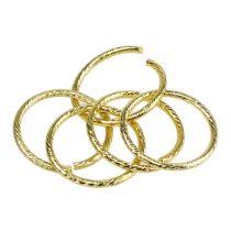 Anneaux pour mariage dorés Ø 3 cm 25 p.