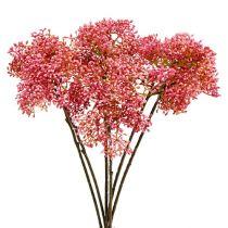Branche de sureau rose 54.5cm 4pcs