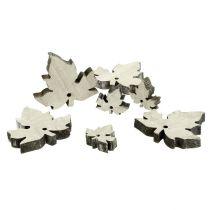 Mélange de feuilles d'érable en bois blanchies 30 p.