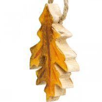 Feuilles décoratives en bois à accrocher Décorations d'automne colorées 6,5 × 4cm 12pcs
