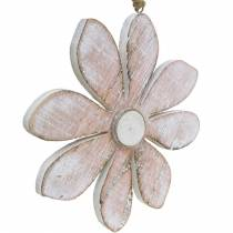 Fleurs en bois à suspendre, été, fleurs aux couleurs pastel, décoration printanière Ø16cm 3pcs