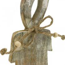 Bougie en bois, décoration de table Shabby Chic, décoration en bois effet pailleté H29.5cm