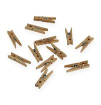 Pinces en bois décoratives 3 cm nature 72 p.