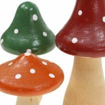 Tabourets décoratifs en bois orange, vert, rouge 6/8 / 10,5cm 9pcs