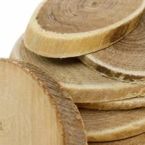 Disques décoratifs en bois ovale nature disque Ø4-7cm décoration bois 400g