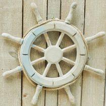 Volant en bois, décoration nautique, maritime Ø34,5cm