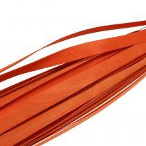 Sangles de bois oranges pour tressage 95 - 100 cm 50 p.