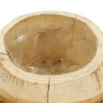 Pot à plantes naturel en bois Ø 14 cm