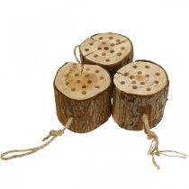 Aide à la nidification en bois d'hôtel à insectes H65cm à accrocher