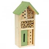 Insect Hotel Green Wood Nesting Aid Garden Insect House H26cm