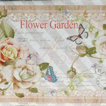 Jardinière avec poignées décoration d'été en métal 23 × 14 × 11cm