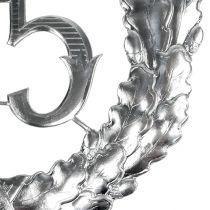 Numéro anniversaire 25 argenté Ø 40 cm