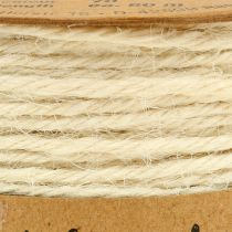 Cordon jute blanc Ø2mm 100g