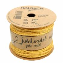 Cordon jute jaune Ø2mm 50m