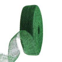 Ruban de jute vert foncé 5cm 40m