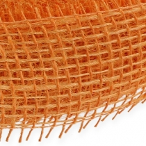 Ruban de jute orange clair 5cm 40m