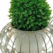 Jardinière, cafetière décorative, pot en métal à planter L15,5cm Ø11,8cm
