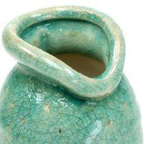 Vase en céramique bleu antique H21cm